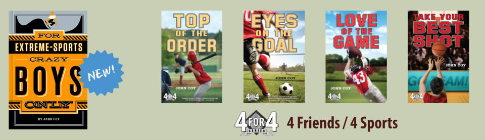 Books for Middle Grade readers  by John Coy